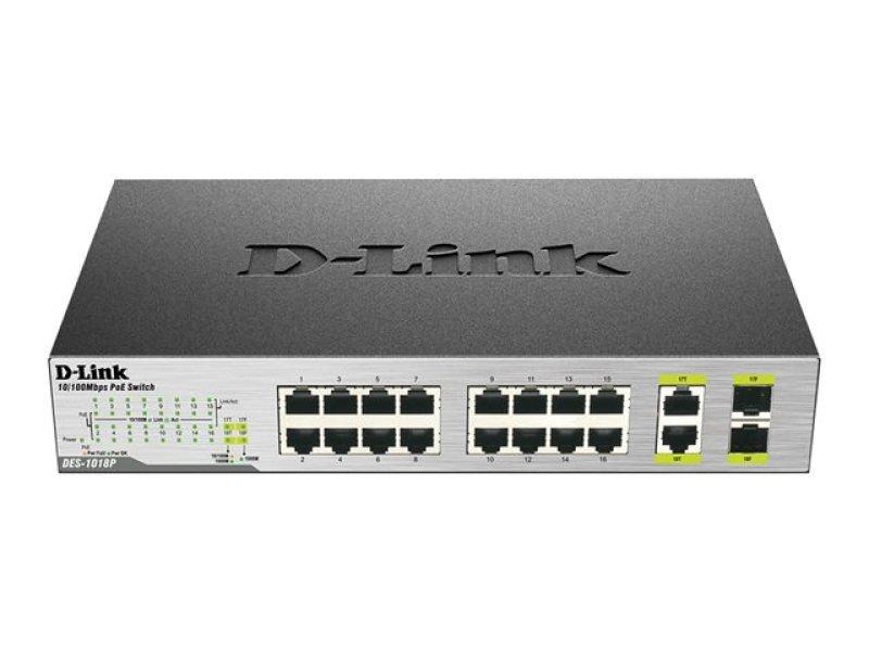 D-Link DES 1018MP Switch 18 ports Unmanaged