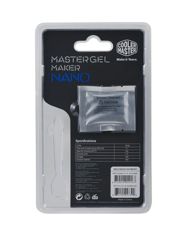Cooler Master Mastergel Maker Nano By Cooler Master High Performance Thermal Paste