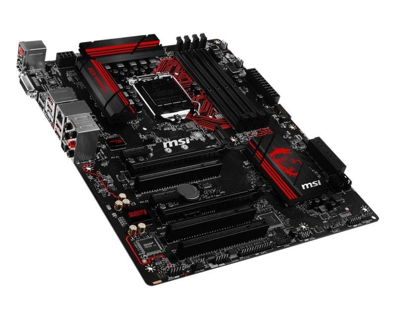 MSI B150 GAMING M3 Socket LGA 1151 DVI-D HDMI 7.1-Channel HD Audio ATX Motherboard