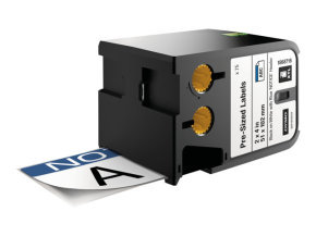 DYMO XTL 2 x 4 (51 mm x 102 mm) Pre-Sized Label, Black on White w/Blue Header & Pre-Printed 'NOTICE'
