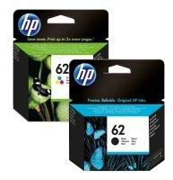 HP 62 Multi-pack 1x Black, 1x Tri-Colour OriginalInk Cartridge - Standard Yield200/165 Pages - N9J71AE