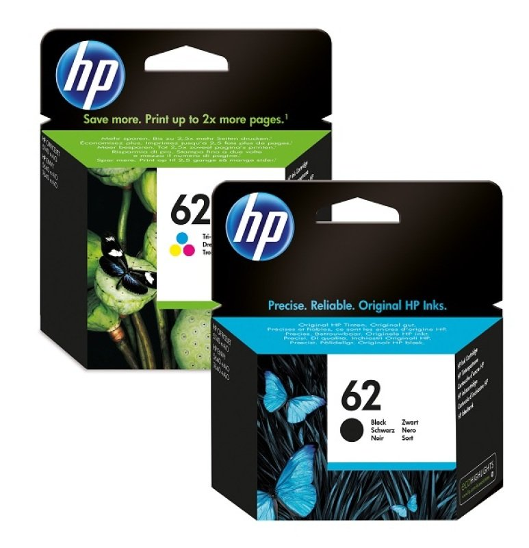 HP 62 Ink Cartridge Combo 2Pack  N9J71AE