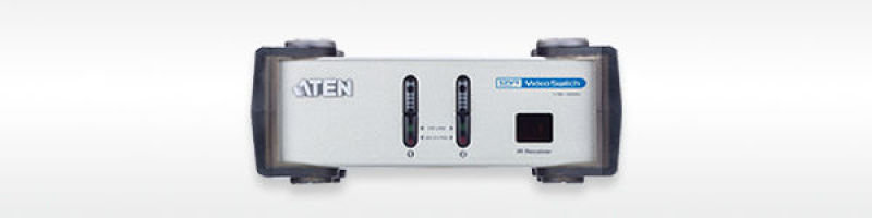 Aten 2 Port Dvi Video Switch + Audio With Remote Control