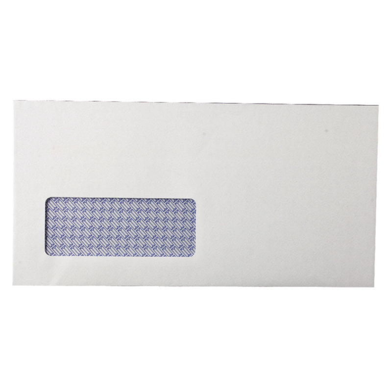 Q Connect White Business Envelopes Window DL 80gsm -  Box of 1000