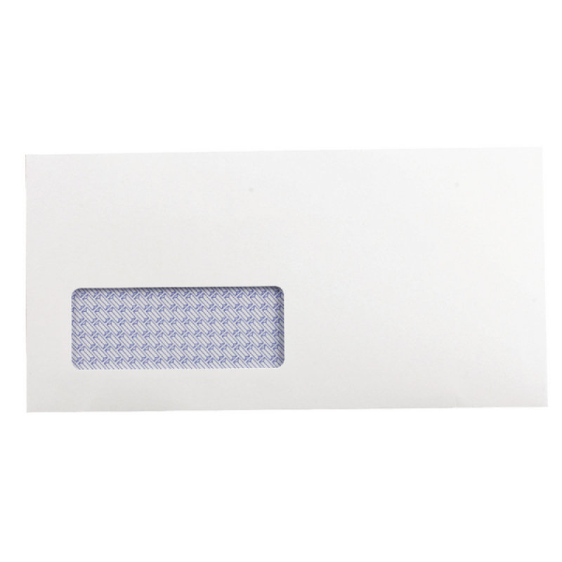 QCONNECT Envelope S/S DL Low Window White Recycled (P500)