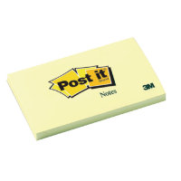 3M Postit Note 76x127mm Yellow 655 - 12 Pack