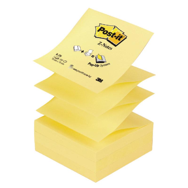 3M Postit Znote 76x76mm Yellow R330 - 12 Pack