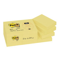 Postit Recycled Notes 38x51mm Yellow - 12 Pack