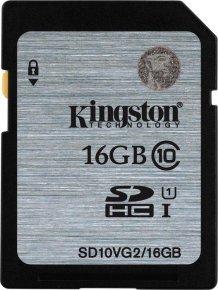 Kingston 16GB Class 10 UHS-I SDHC Memory Card