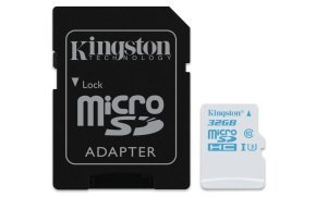 Kingston 32GB microSD UHS-I Speed Class 3 (U3) Action Card With SD Adapter