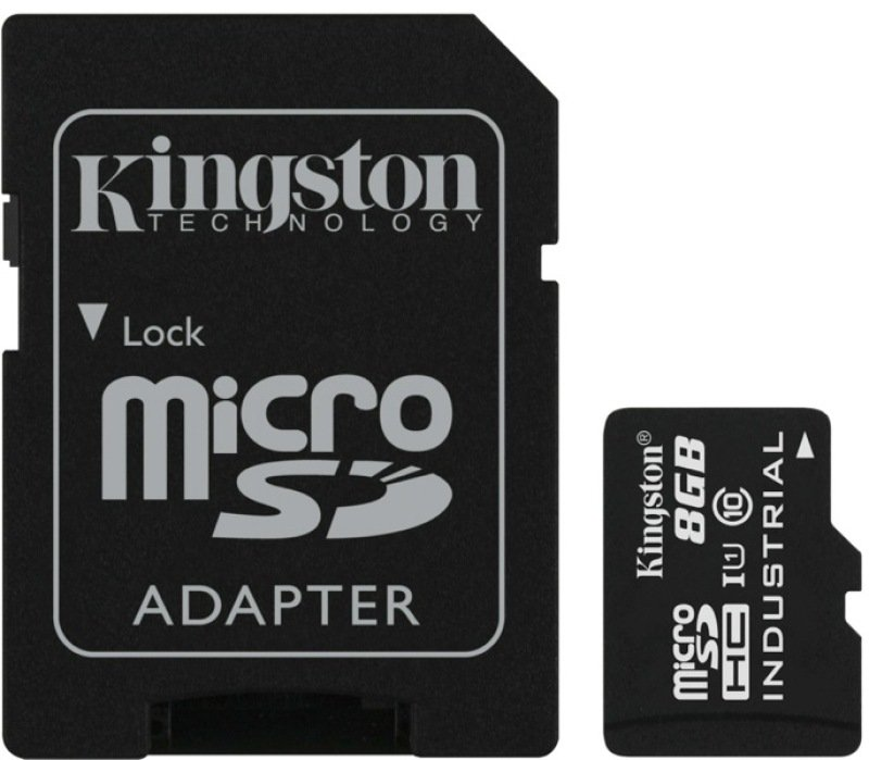 Kingston 8GB Micro SDHC Class 10 UHS-I Industrial Temperature Card with Adapter