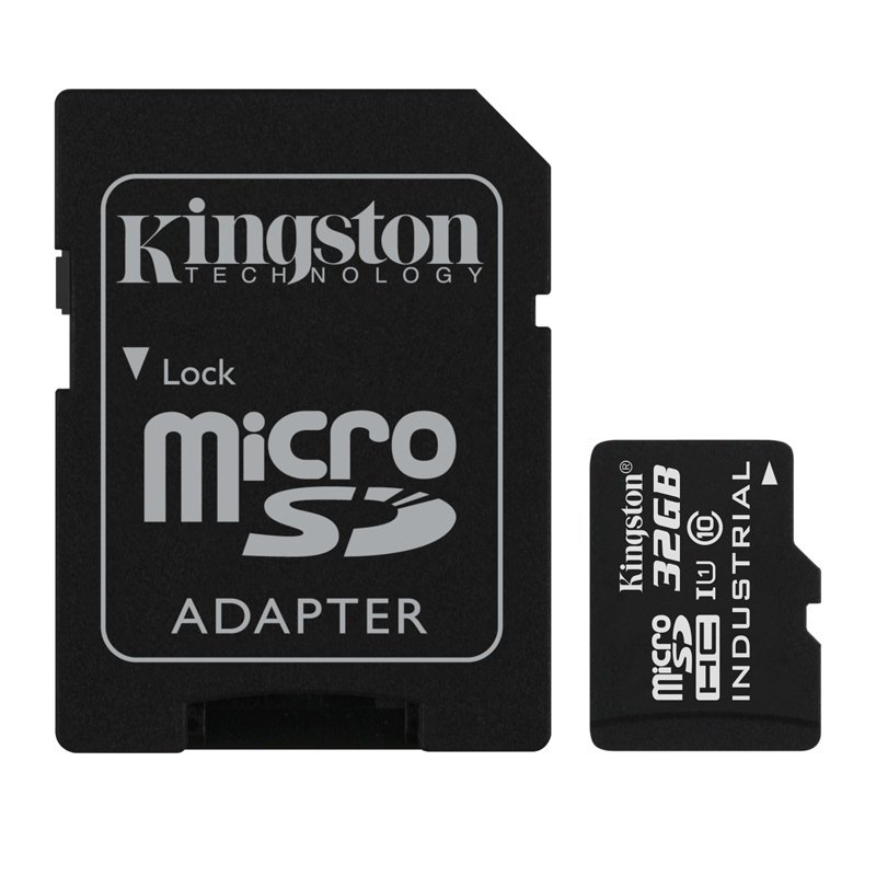 Kingston 32GB Micro SDHC Class 10 UHS-I Industrial Temperature Card With Adapter