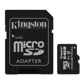 Kingston 64GB Micro SDHC Class 10 UHS-I Industrial Temperature Card With Adapter
