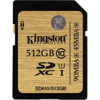 Kingston 512GB SDXC UHS-I Memory Card