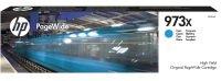 HP 973X High Yield Cyan Original PageWide Cartridge - F6T81AE