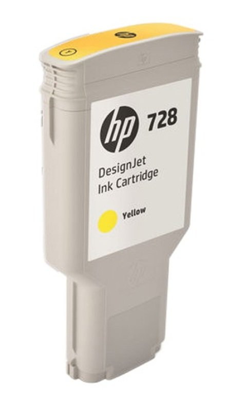 HP 728 300ml Yellow DesignJet Ink Cartridge