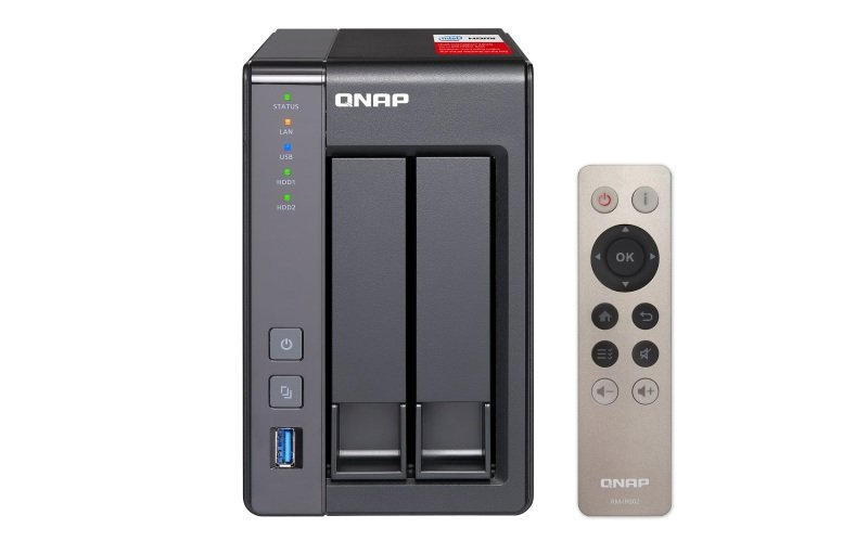 QNAP TS2518G 16TB (2 x 8TB WD RED) 2 Bay NAS Unit with 8GB RAM