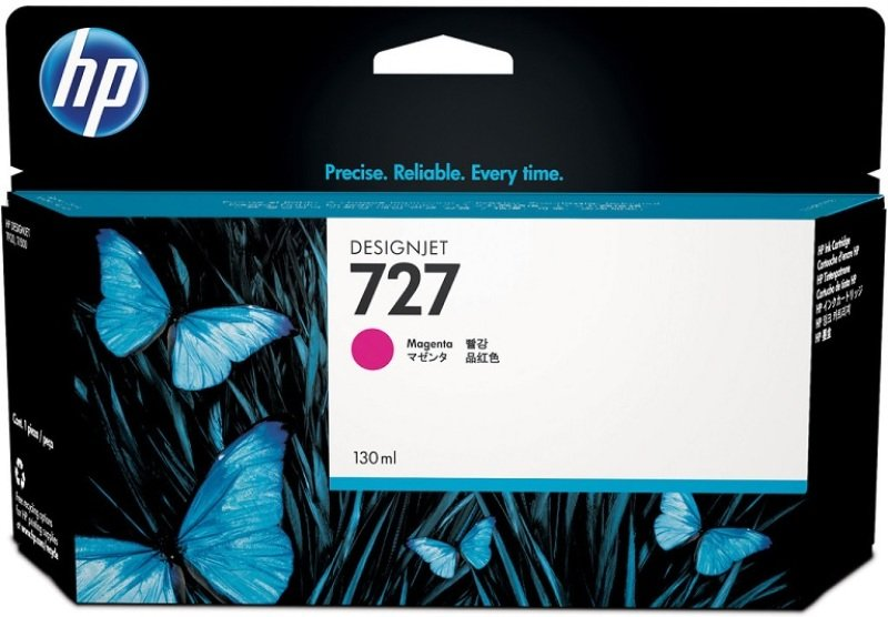 HP 727 Magenta OriginalDesignjet Ink Cartridge - High Yield 300ml - F9J77A