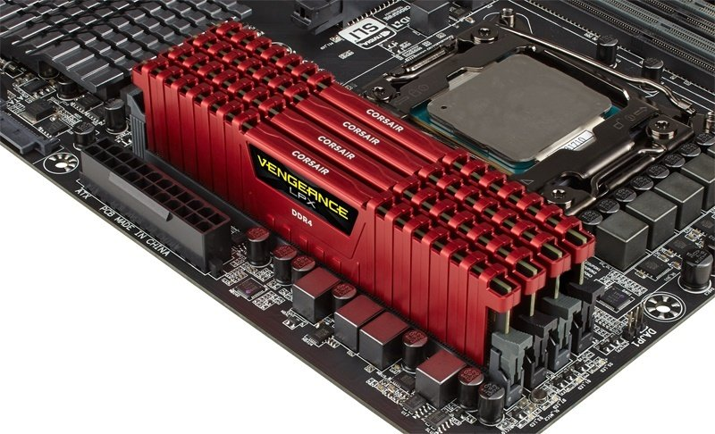 Corsair Vengeance LPX 64GB (4x16GB) DDR4 DRAM 3333MHz C16 Memory Kit - Red