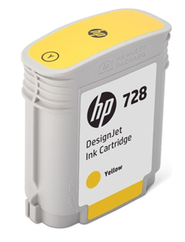 HP 728 Yellow OriginalDesignjet Ink Cartridge - Standard Yield 40ml - F9J61A
