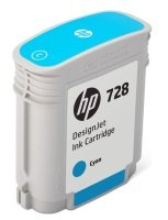 HP 728 Cyan OriginalDesignjet Ink Cartridge - Standard Yield 40ml - F9J63A
