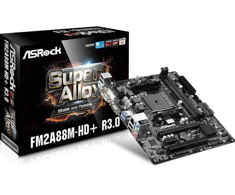 ASRock FM2A88MHD R3.0 Socket FM2 VGA DVID HDMI 5.1 CH HD Audio Micro ATX Motherboard