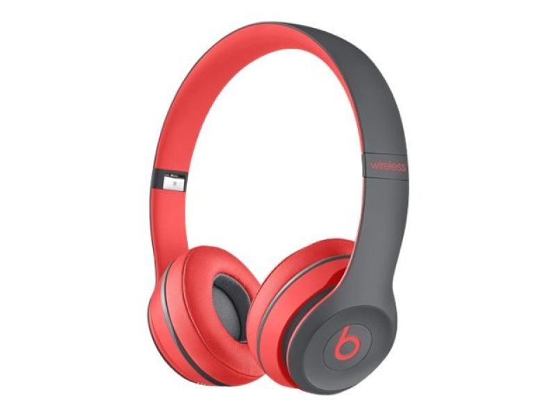 Image of Beats Solo2 Wireless - Headset - On-ear - Wireless - Bluetooth - Red - For Ipad (3rd Generation), Ipad 1, 2, Ipad Air, Ipad Air 2, Ipad Mini, Ipad Mini 2, 3, 4, Ipad Pro, Ipad With Retina Display, Iphone 3g, 3gs, 4, 4s, 5, 5c, 5s, 6, 6 Plus, 6s, 6s Plus,