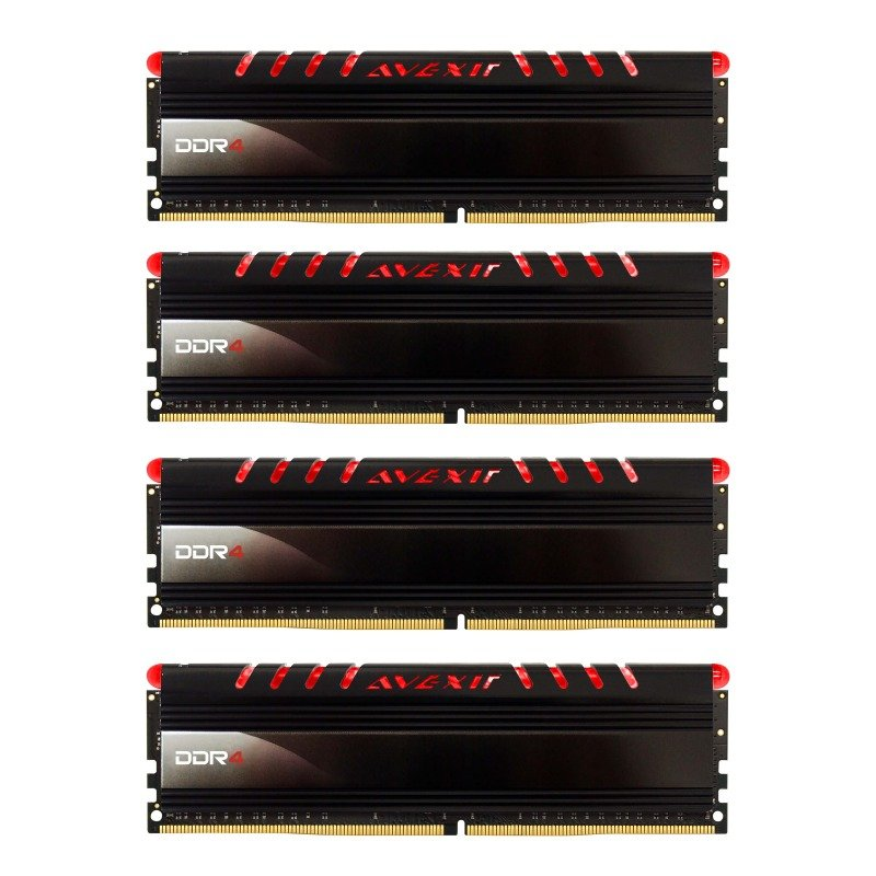 Avexir Core Red LED 16GB (4x4GB) DDR4 2400MHz Desktop Memory