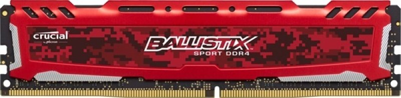 Crucial Ballistix Sport LT 16GB Kit (4x4GB) DDR4-2400 CL16 (16-16-16) 1.2V PC4-19200 Memory (Red)