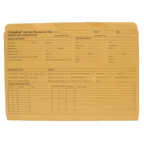 Guildhall Pre-Printed HR File Yellow Pack of 50