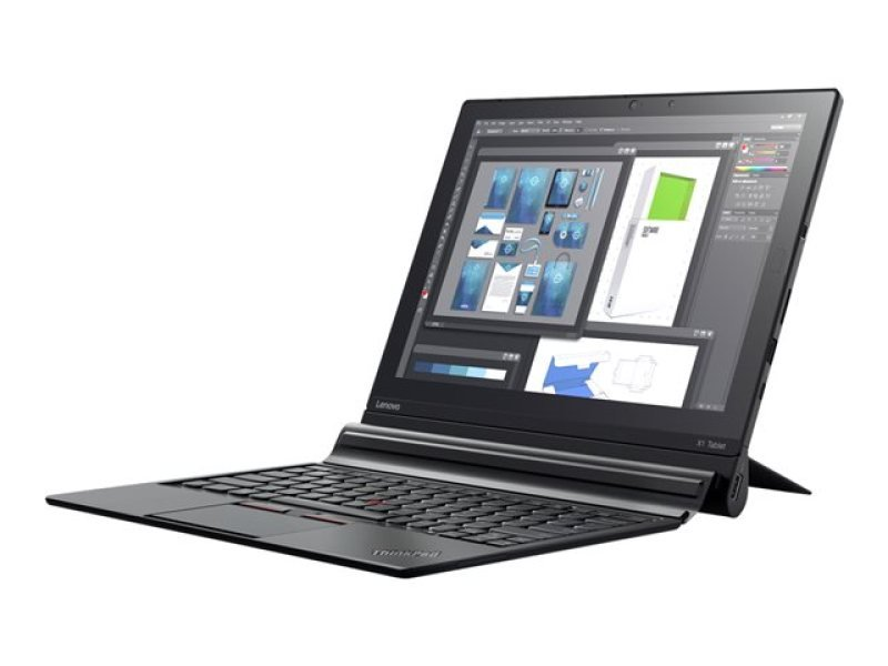 Image of Lenovo X1 Tablet Touch, Intel Core M7 6Y75 vPRO, 8GB DDR3, 256 GB M.2 SSD, Intel HD Graphics, 12 FHD+ (2160x1440) IPS, Intel 8260 AC 2x2 - Snowfield peak2(BlueTooth v4.1), 4G LTE, FPR, 4 cell, Micro SD Card Slot, Windows 10 Pro, Yes, Touch display