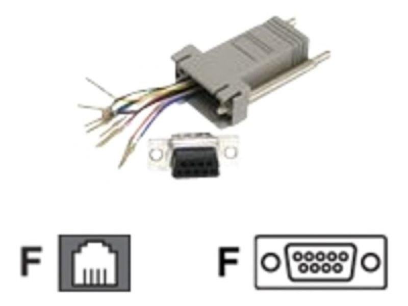 C2G, RJ45 10-Pin/DB9F Modular Adapter Grey
