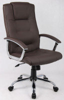 HH Solutions Executive Luxury High Back Leather Brown Chair
