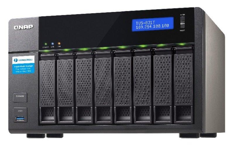 QNAP TVS-871T-I5-16G 24TB (8 x 3TB WD RED PRO) 8 Bay NAS with 16GB RAM