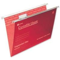 EXDISPLAY Crystalfile Foolscap Complete Red Pack of 50 78141