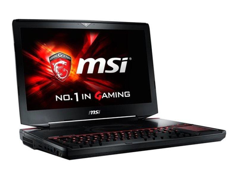 """MSI GT80S 6QE(Titan SLI)039UK Gaming Laptop Skylake i76700HQ 2.6GHz 16GB DDR4 RAM 1TB HDD 256GB SSD 18.4"""" FHD BluRay nVidia Geforce GTX 980M 8GB WIFI Windows 10 64bit"""