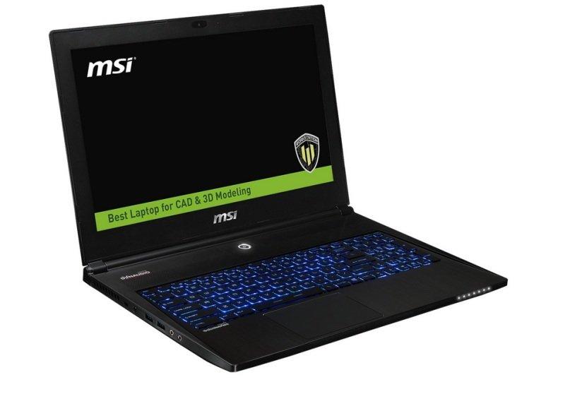 """MSI WS60 6QH 088UK 8GB Intel Core i5 (6th Gen) 6300HQ  2.3 GHz 1TB HDD 15.6"""" Mobile Workstation"""