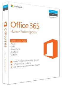 Microsoft Office 365 Home - 1 Year Subscription
