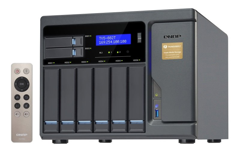 QNAP TVS882Ti516G 8 Bay Desktop NAS Enclosure