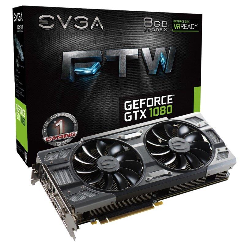 EVGA GeForce GTX 1080 FTW 8GB GDDR5X DVID HDMI 3x DisplayPort PCIE Graphics Card