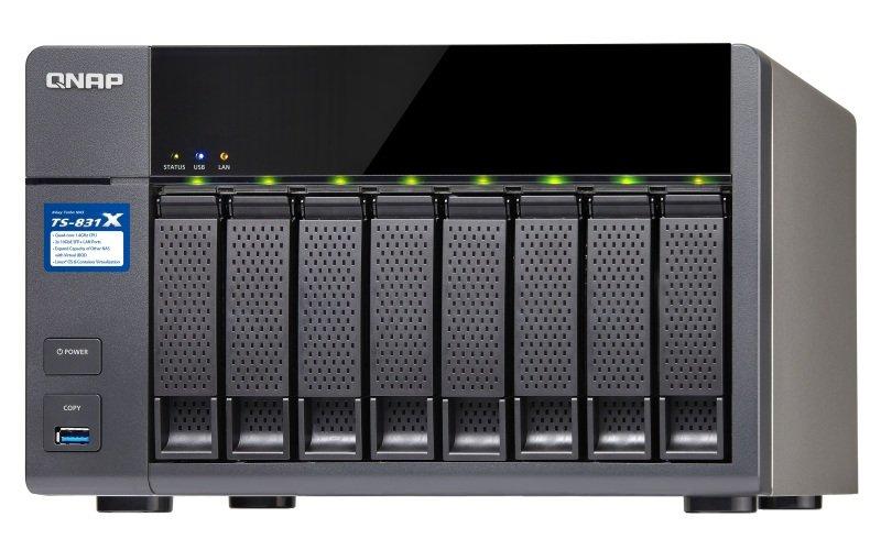 QNAP TS-831X-16G 8 Bay Desktop NAS Enclosure