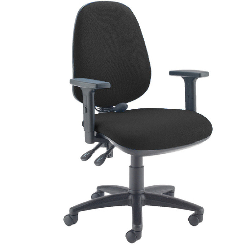Image of Capella Intro Posture Chair With Lumbar Support Black