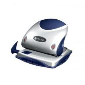 Rexel P225 Robust Metal 2-Hole Punch (Silver/Blue) - Capacity 25 x 80gsm