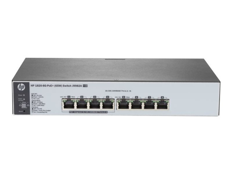 HPE 1820-8G-PoE+ (65W) 8 ports Managed Switch + Access Point