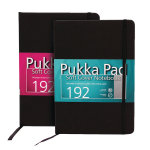 Pukka Signature Soft Cover Notebook A5 Casebound 192 Pages Black Pack of 3