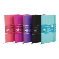 Pukka Signature Soft Cover Notebook A5 Casebound 192 Pages Assorted Pack of 5