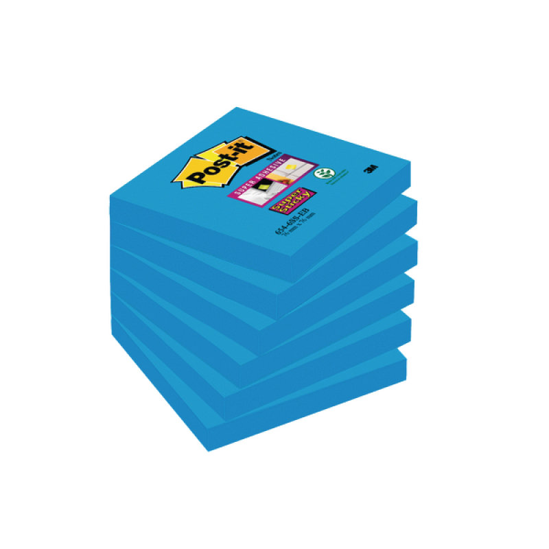 Post-it Notes Super Sticky 76 x 76mm Mediterranean Blue