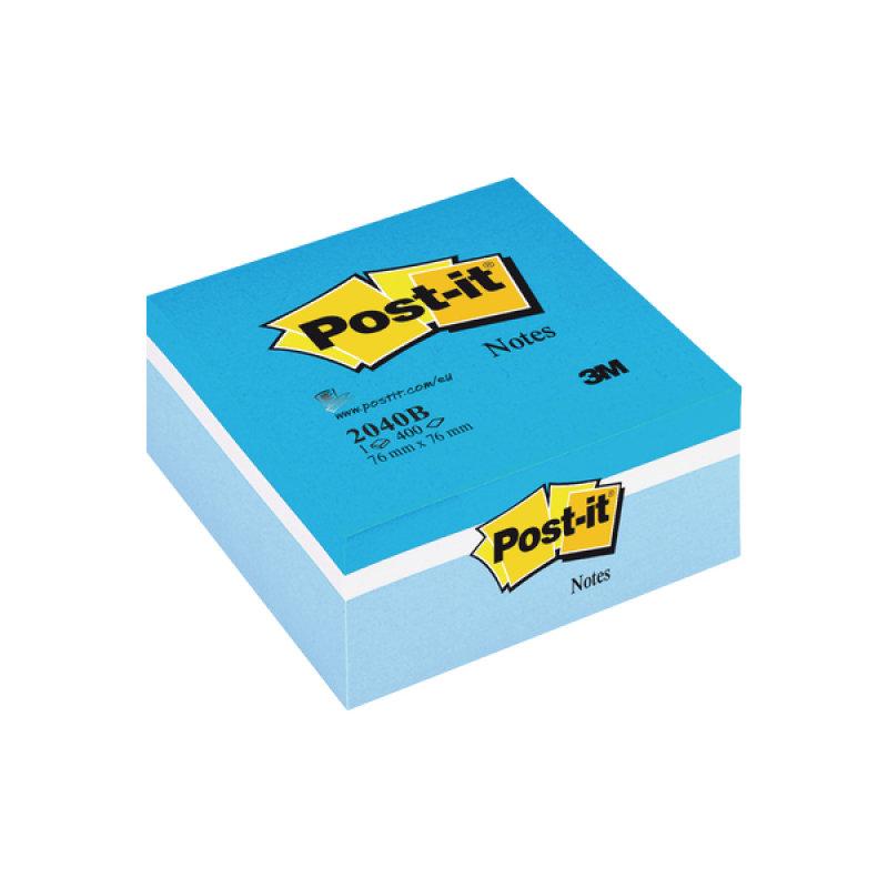Postit Cube 76x76 Assorted Blue