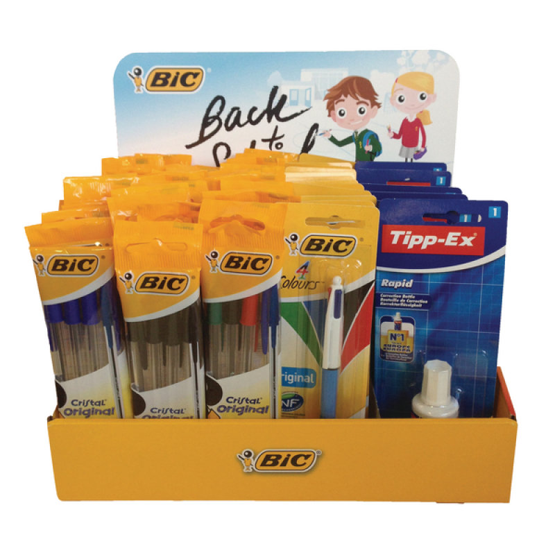 BIC Back to School Prefilled Till Topper