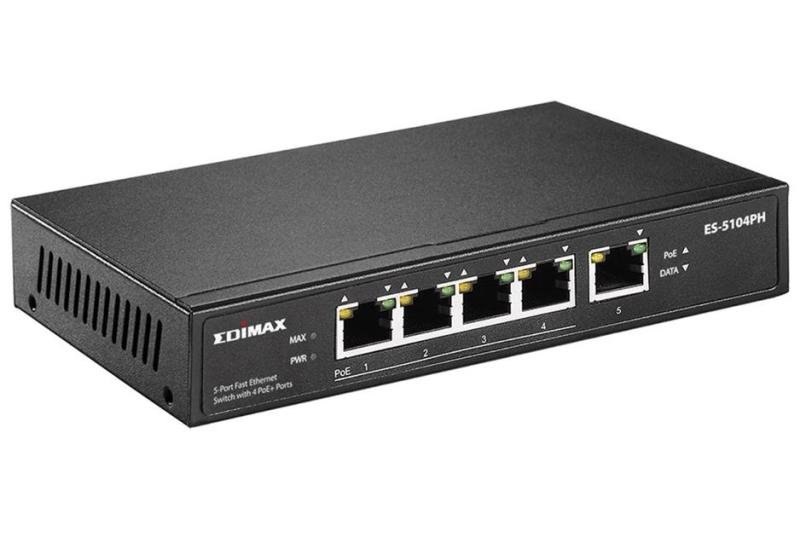 Edimax 5 Port Fast Ethernet Desktop Switch with 4 PoE ports